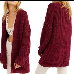 Free People High Hopes Chunky Knit Cardigan